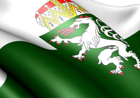 Flag of Styria. Close up. photo