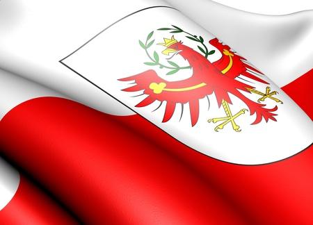 tyrol: Flag of Tyrol. Close up.