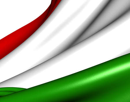 Flag of Hungary against white background. Close up.  photo