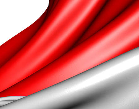 Flag of Indonesia against white background. Close up. Stock Photo - 9359535