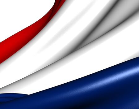 Flag of Netherlands against white background. Close up. Stock Photo - 9359468