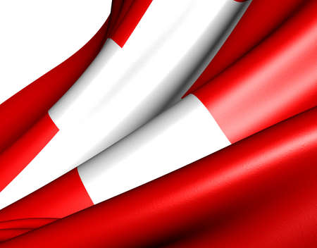 Flag of Switzerland against white background. Close up.  photo