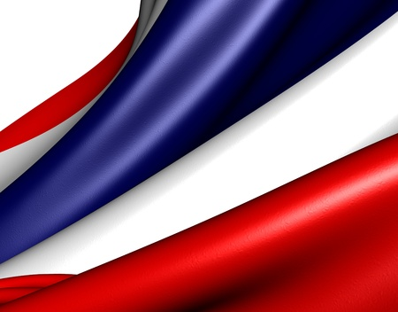 Flag of Thailand against white background. Close up.