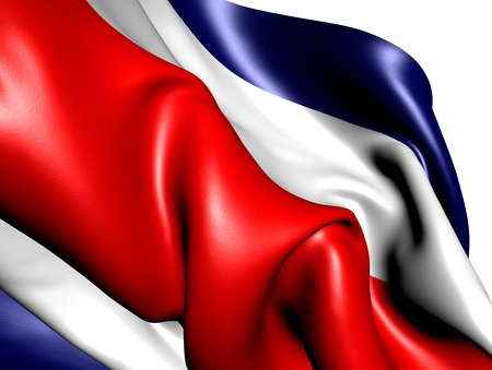 Flag of Costa Rica against white background. Close up.  photo