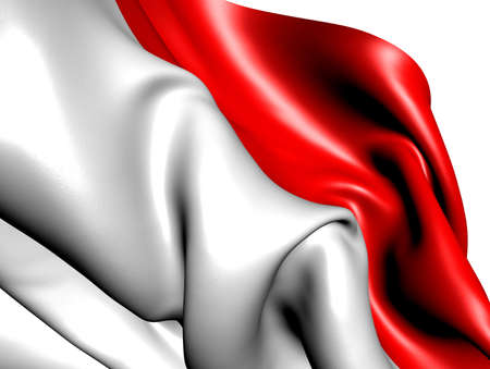 Flag of Indonesia against white background. Close up. Stock Photo - 9429540