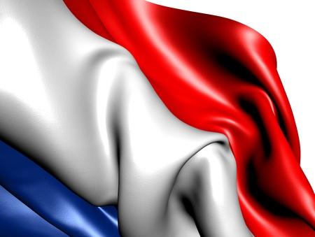 Flag of Netherlands against white background. Close up. Stock Photo - 9429566