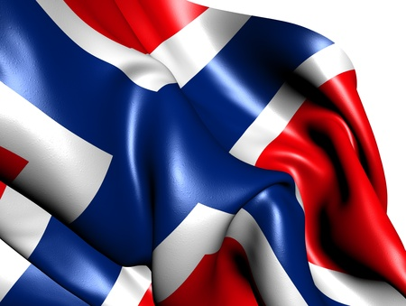 Flag of Norway against white background. Close up.  photo