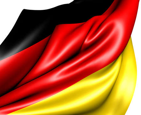 Flag of Germany against white background. Close up.  photo