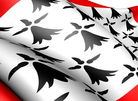 Flag of Limousin, France. Close up.  photo