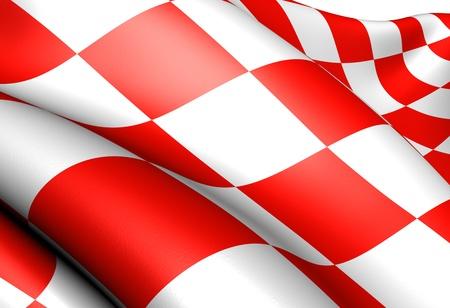 Vlag van Noord-Brabant, Nederland. Close-up.  Stockfoto - 9478964