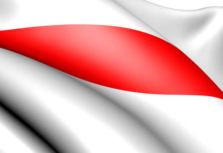strasbourg: Flag of Strasbourg, France. Close up.  Stock Photo