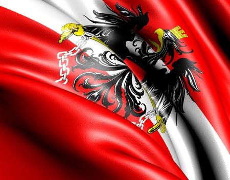 Drapeau de l'Autriche. Gros plan. Banque d'images - 9525144