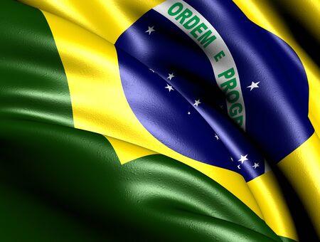 brazil flag: Flag of Brazil. Close up.