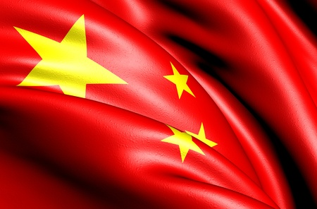 Flag of China. Close up.  Stock Photo