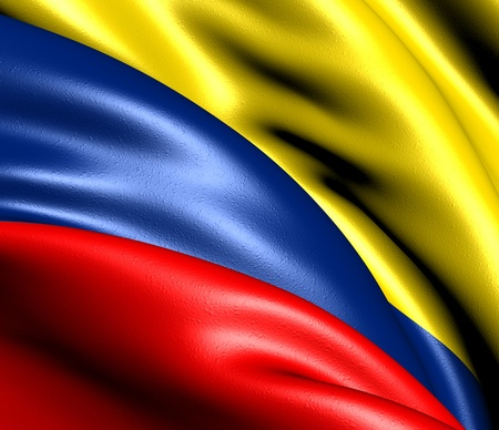 colombian: Flag of Colombia. Close up.  Stock Photo