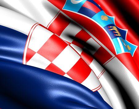 former yugoslavia: Flag of Croatia. Close up.