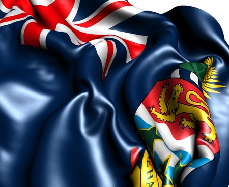 cayman islands: Flag of Cayman Islands against white background. Close up.  Stock Photo