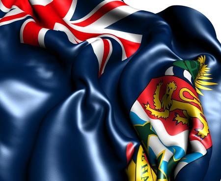 brutish: Flag of Cayman Islands against white background. Close up.  Stock Photo
