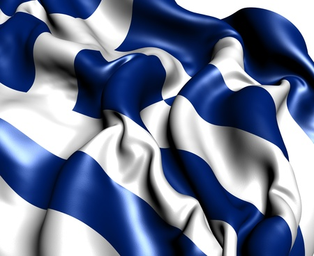 Flag of Greece. Close up.  photo