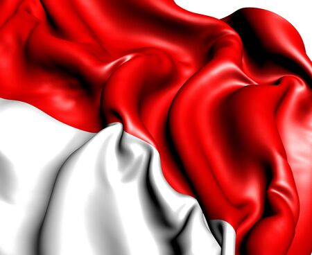 Flag of Indonesia against white background. Close up. Stock Photo - 9657669
