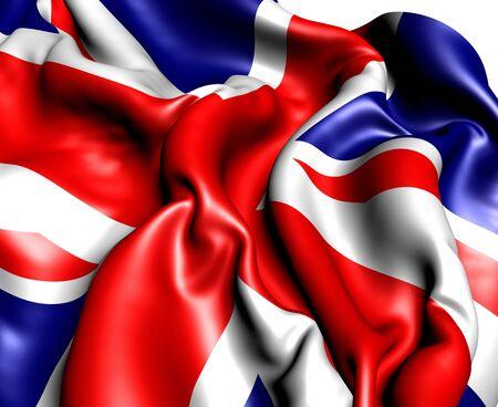 Flag of UK. Close up.  photo