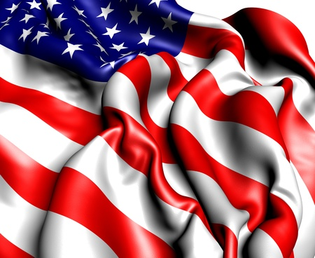 Flag of USA. Close up.