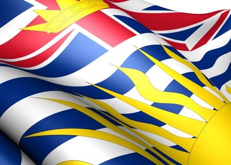 british columbia: Flag of British Columbia. Close up.