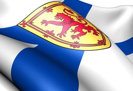 Flag of Nova Scotia. Close up. Banque d'images