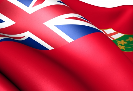 Flag of Ontario. Close up.