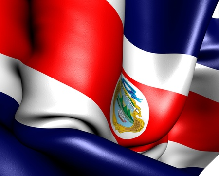 Flag of Costa Rica. Close up. photo