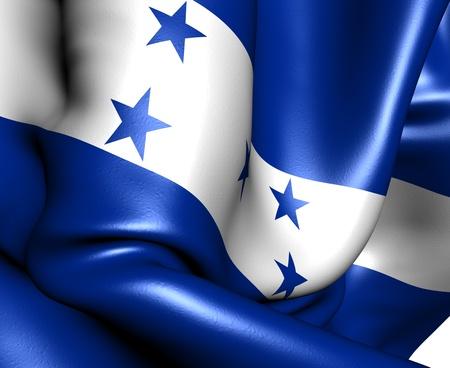 Flag of Honduras. Close up.  photo