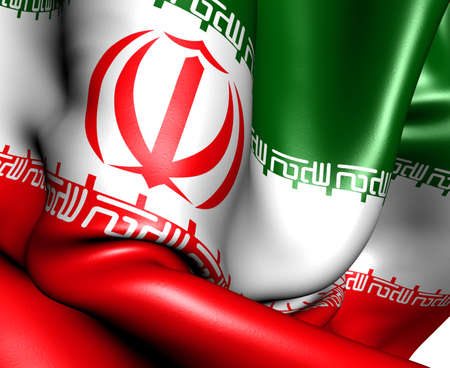 Flag of Iran. Close up.  photo