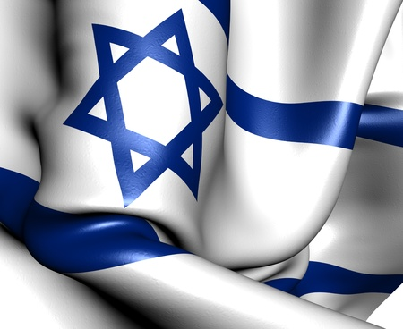 israeli: Flag of Israel. Close up.  Stock Photo