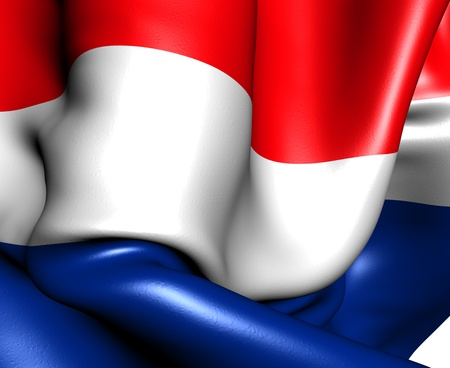 Flag of Netherlands. Close up.  Stock Photo - 9706021