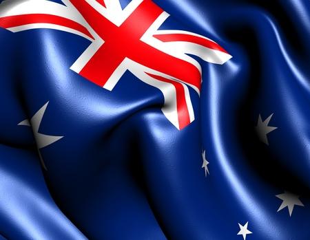 australia: Flag of Australia. Close up.