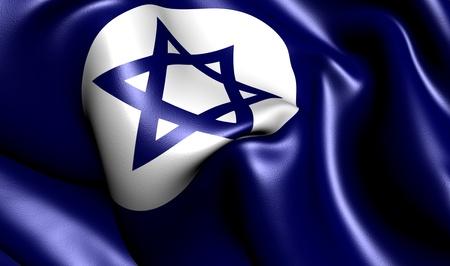ensign: Civil Ensign of Israel. Close up.
