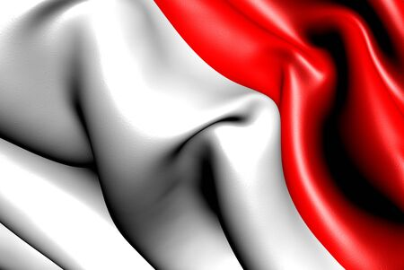 Flag of Indonesia. Close up.  Stock Photo - 9764300