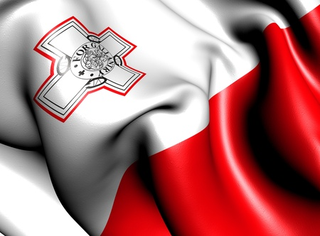 Flag of Malta. Close up.  photo