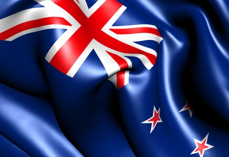 Flag of New Zealand. Close up.  Banque d'images