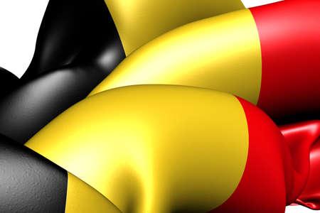 Flag of Belgium. Close up.  photo