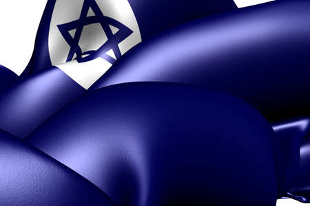 Civil Ensign of Israel. Close up.  Stock Photo - 9775805