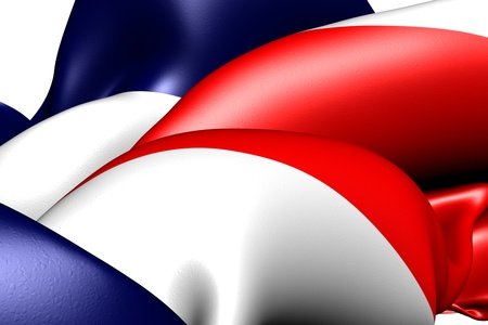 Flag of Costa Rica. Close up. Stock Photo - 9775808