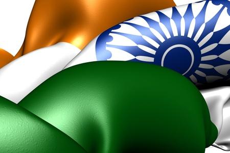 Flag of India. Close up.  photo