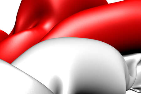 Flag of Indonesia. Close up. Stock Photo - 9775838