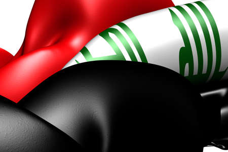 Flag of Iraq. Close up. photo