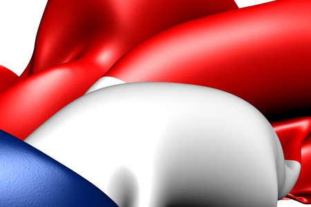 Flag of Netherlands. Close up.  Stock Photo - 9775848