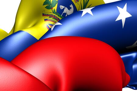 Flag of Venezuela. Close up.  photo