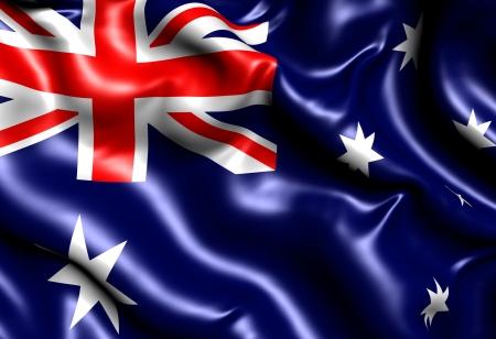 Flag of Australia. Close up.  photo
