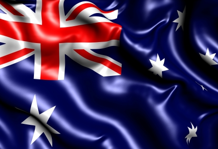 Flag of Australia. Close up.