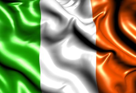 bandera de irlanda: Bandera de Irlanda. Cerrar.  Foto de archivo